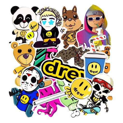 Drew House Cool Stickers Fashion Skateboard Stickers for Teens Laptop Water Bottle decals
